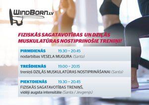 Windborn fitnesa treniņi Ķeguma dienas centrā